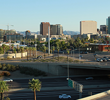 freeway cars downtown Phoenix